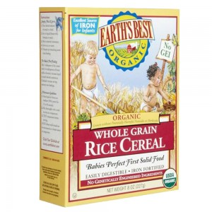 Earth's Best organic Whole Grain Rice Cereal (8 oz)