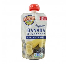Earth's Best Organic Baby Food Banana Blueberry Puree Pouch 6mth+