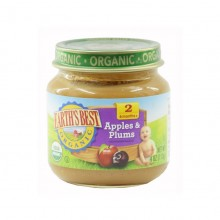 Earth's Best Organic Baby Food - Apple & Plum 4oz (6months)