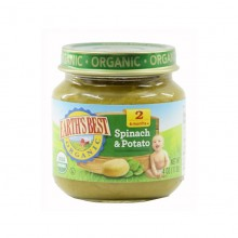 Earth's Best Organic Baby Food Spinach & Potato 4oz (6mth+)