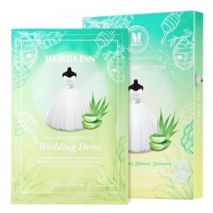 Wedding Dress Emerald Aloe Honey Soothing Clear Seal Mask (Pack of 10)