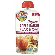 Earth's Best Organic Baby Food Apple Raisin Flax & Oat Puree Pouch (6mth+)