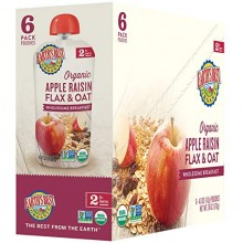 Earth's Best Organic Apple Raisin Flax & Oat Puree 6mth+ (Pack of 6)