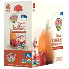 Earth's Best Organic Pumpkin Cranberry Apple Puree 6mth+ (Pack of 6)