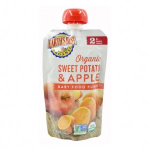 Earth's Best Organic Sweet Potato & Apple Puree 6mth+ (Pack of 6)
