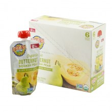 Earth's Best Organic ButterNut Squash Pear Puree 6mth+ (Pack of 6)