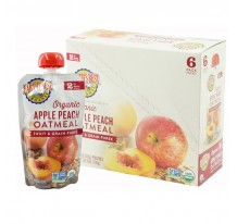 Earth's Best Organic Apple Peach Oatmeal Puree 6mth+ (Pack of 6)
