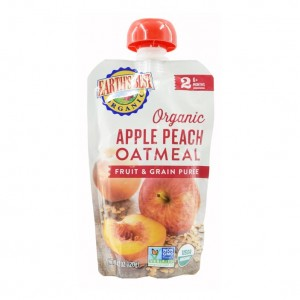 Earth's Best Organic Apple Peach Oatmeal Puree 6mth+ (Pack of 6)