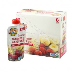 Earth's Best Organic Banana Raspberry Brown Rice Puree 6mth+ (Pack of 6)